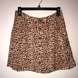 NWOT Sky and Sparrow Floral skirt